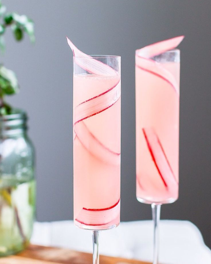This Rhubarb 75, a simple, seasonal twist on the classic French 75, will quickly become your favorite (and most elegant) way to day drink. I'm loving it for the influx of daytime parties that comes along with spring (Easter, Mother's Day, bridal showers, brunches). And if you've already made a batch of rhubarb syrup for my Velvet Snow cocktail, this is a fantastic way to make use of your stock!