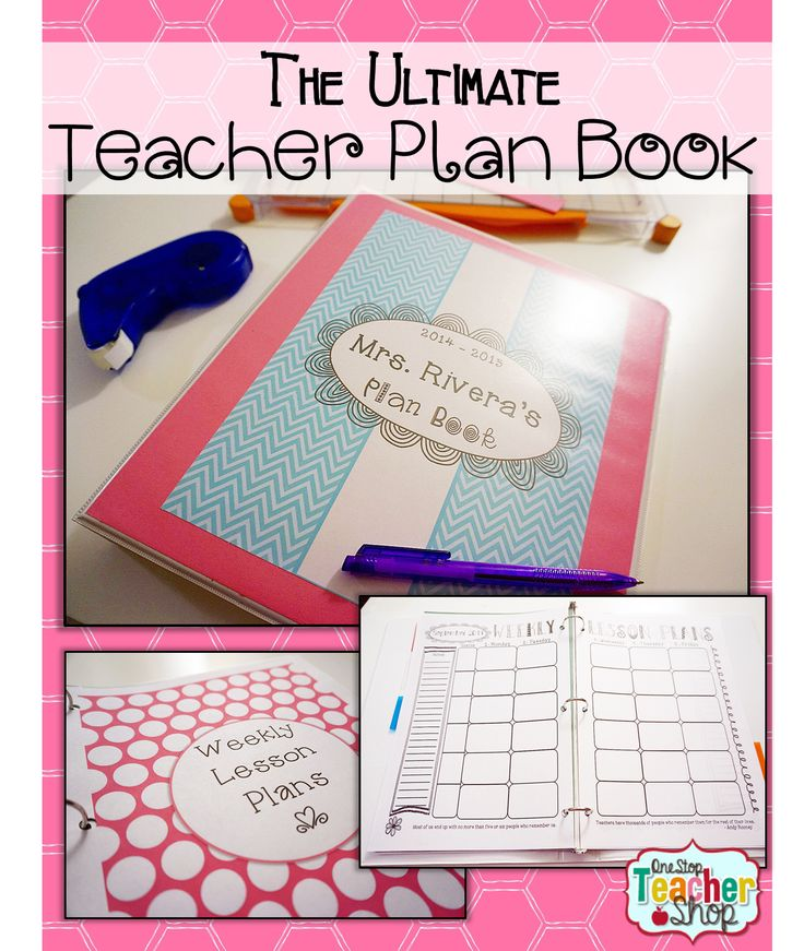 Blog post about putting together the Ultimate Teacher Plan Book (Binder). by One Stop Teacher Shop