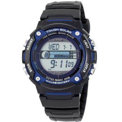 Men's Wrist Watches - Casio WS210H1AV Tough Solar Moon Graphs Watch >>> Click image to review more details.