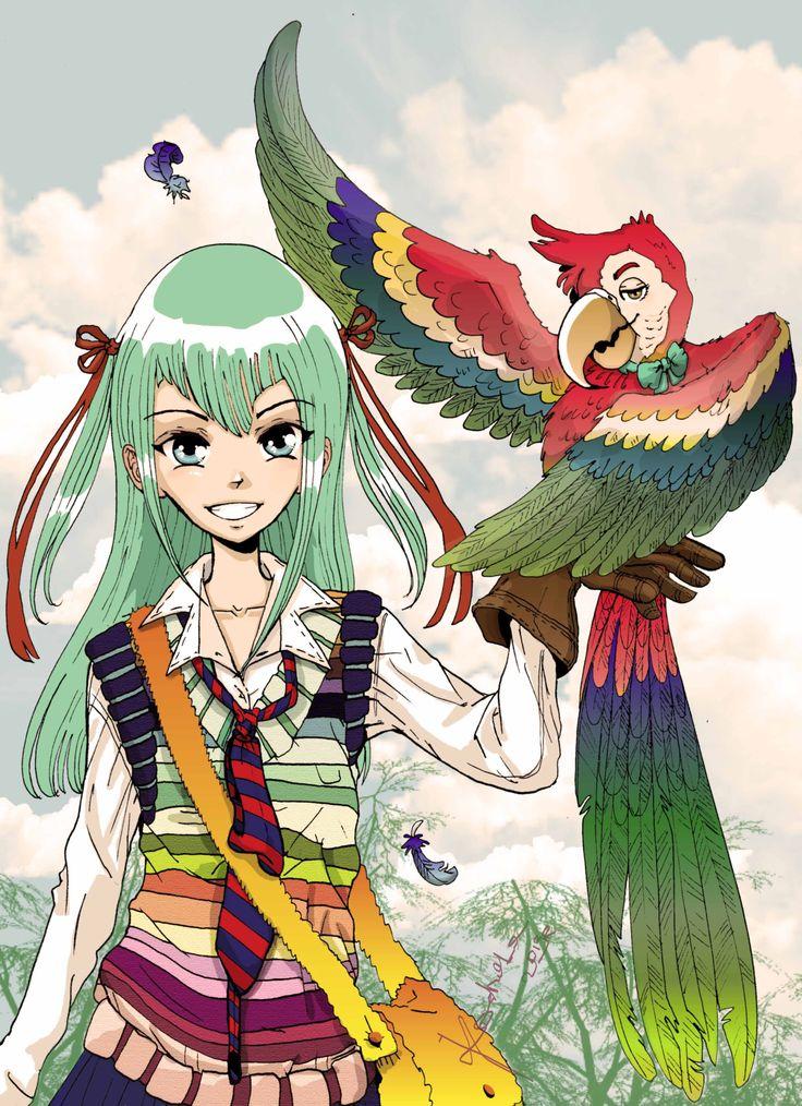 Dziewczyna z papugą  by Kashoka