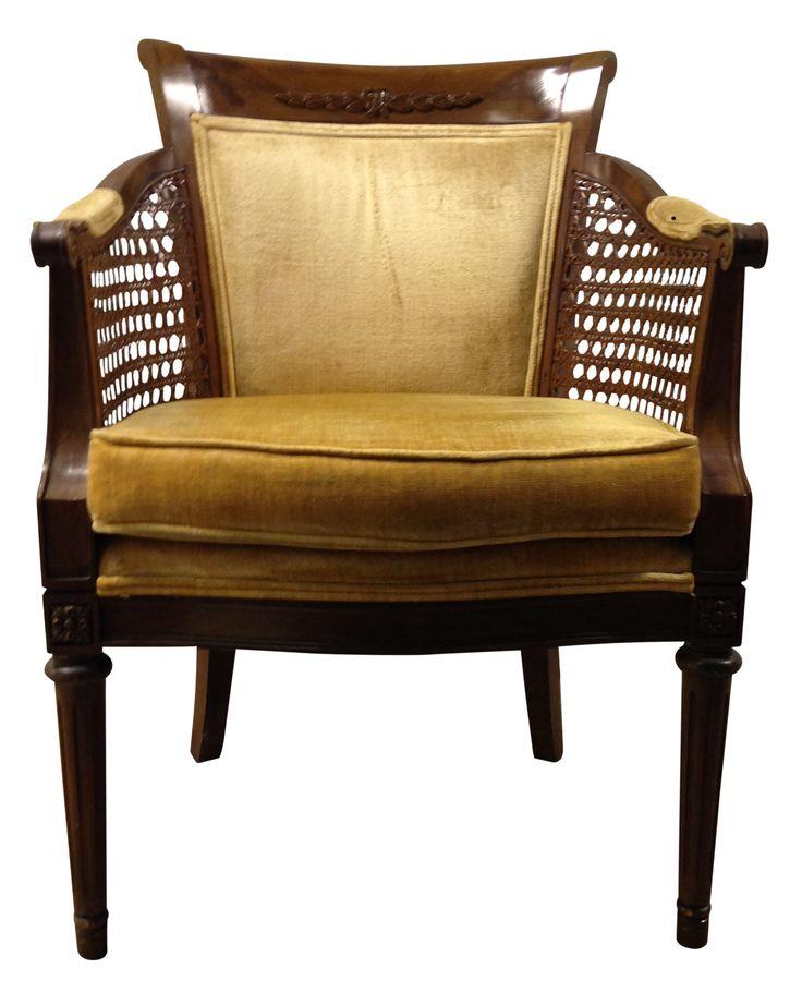 Statesville Chair Co Velvet Cane