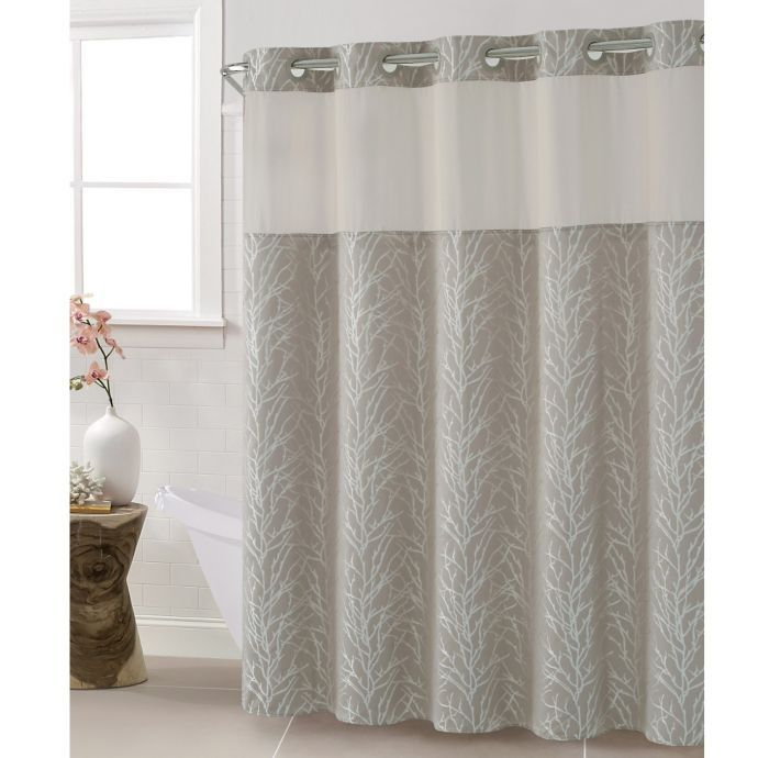 Hookless Jacquard Tree Branch 71 Inch X 86 Inch Shower Curtain In