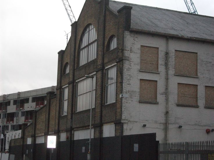 HMV music record factory brick warehouse Blyth Road, Hayes, Middlesex