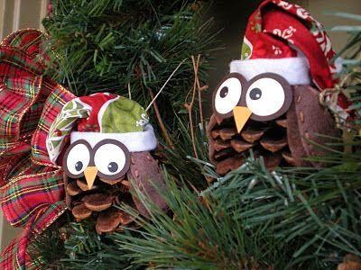 Christmas Owls ~~ Love this idea