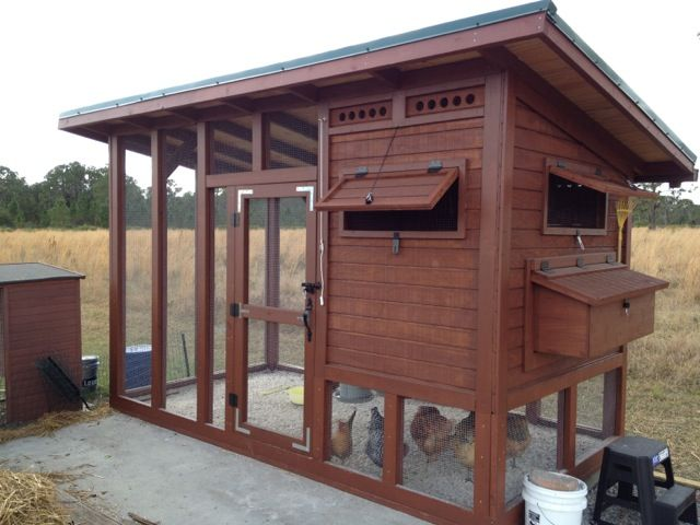 complete step by step of the cutest chicken coop ever, you can even download the plans. has the run attached so you don't have to let them out.