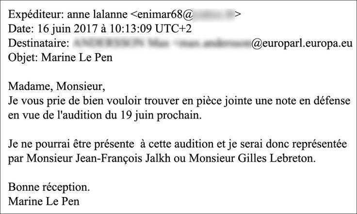 E-mail d'Anne Lalanne. | CAPTURE ECRAN / RADIOFRANCE