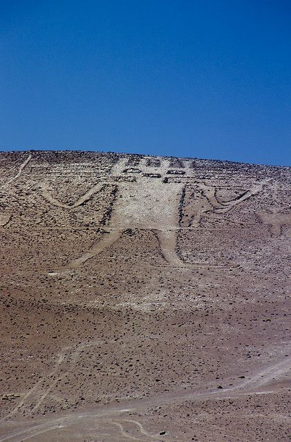 Atacama giant at Cerro Unita, Chile is the largest geoglyph in the world (119 meters)