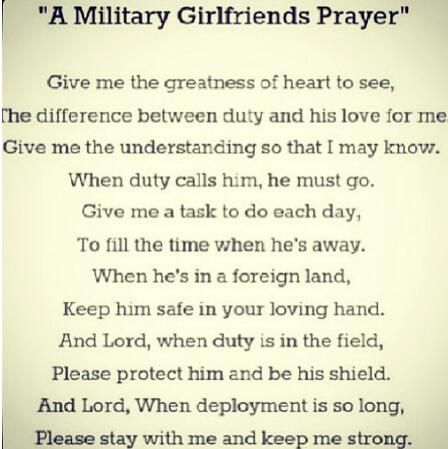 national guard girlfriend; i may need this soon.. so inspirational!