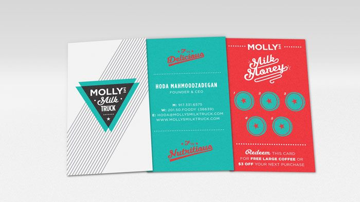 Fun identity for Mollly's Milk Truck, designed by Imagemme Packaging Design (from The Dieline, via Eight Hour Day)