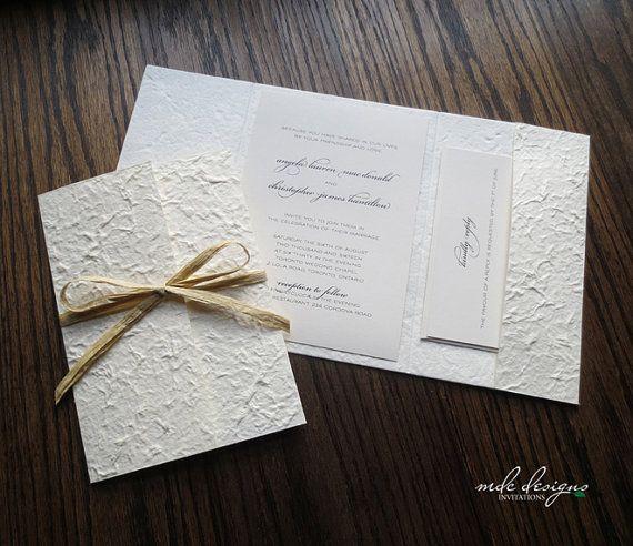 DIY Mulberry Pocketfold Invitation Kit  by MulberrybyMDCDesigns, $35.75