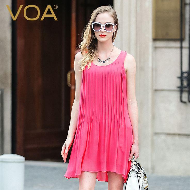 Encontrar Más Vestidos Información acerca de VOA seda roja vestido de 2016 vestidos de Verano sin mangas floja delgada femenina nueva A5901 Un, alta calidad vestido de cenicienta, China vestidos de ropa Proveedores, barato vestidos de china de VOA Flagship Shop en Aliexpress.com
