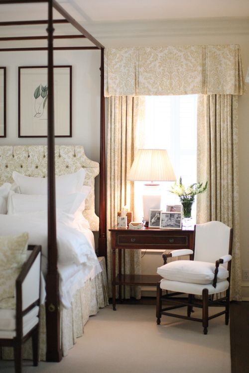 House Tour: J.K. Kling - Design Chic.  Love the chair and the side table.  The fabric on the drapes is great.