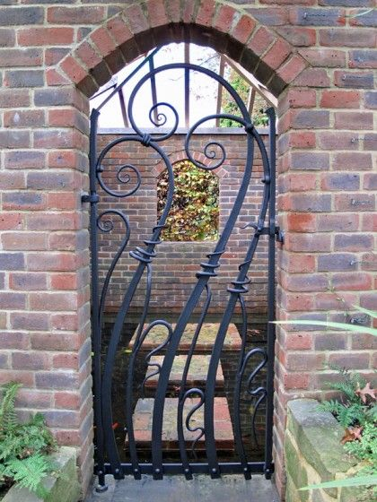 Contemporary blacksmith forged garden gate