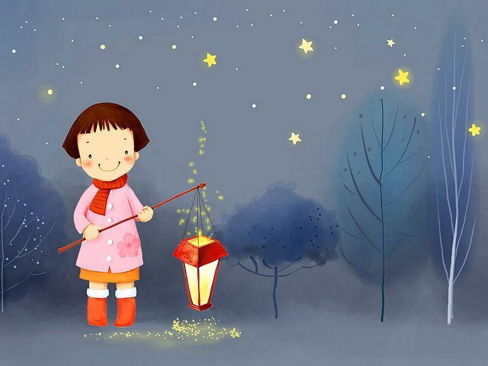 Kim Jong Bok Illustrations(Vol.05) : Sweet Childhood Lovely Girl    - Winter Fairy - Sweet Little Girl Cartoon Illustration 1920*1600  17