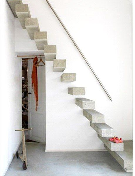17 mejores ideas sobre escaleras de hormigon en pinterest - Construccion escaleras interiores ...
