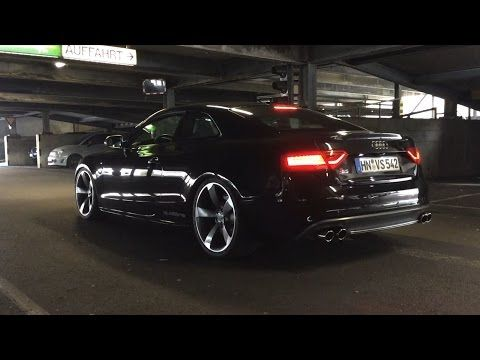 Audi S5 4 2 V8 LOUD EXHAUST CRACKLING POPPING Machine Gun