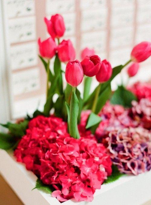 centros de mesa florales de primavera