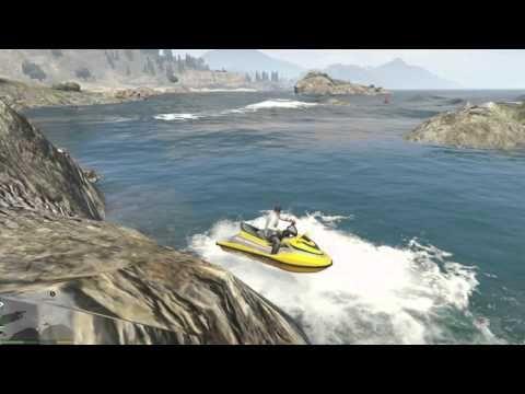 GTA 5 Playthrough HD 720p60 (sea boat, cave, jet-ski)#31