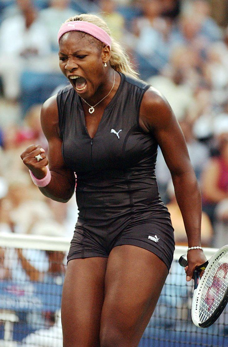 Pin for Later: We've Got Nothing but Love For These Ace Tennis Looks  Serena Williams donned a leather catsuit by Puma at the 2002 US Open.