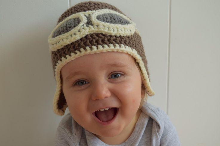 Crocheted Aviator Hat by LoveaYarn on Etsy https://www.etsy.com/listing/222030031/crocheted-aviator-hat