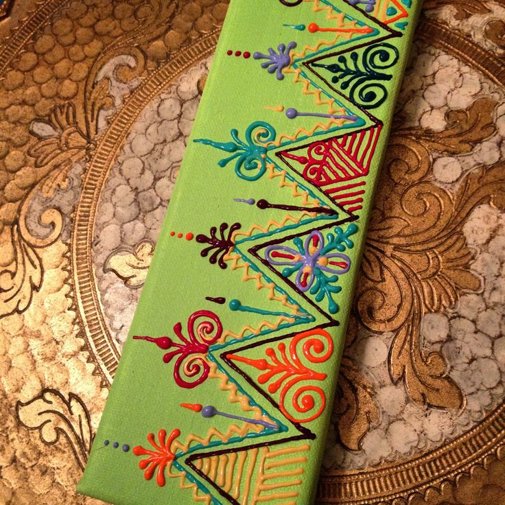 Moroccan style design on mini canvas by Henna on Hudson