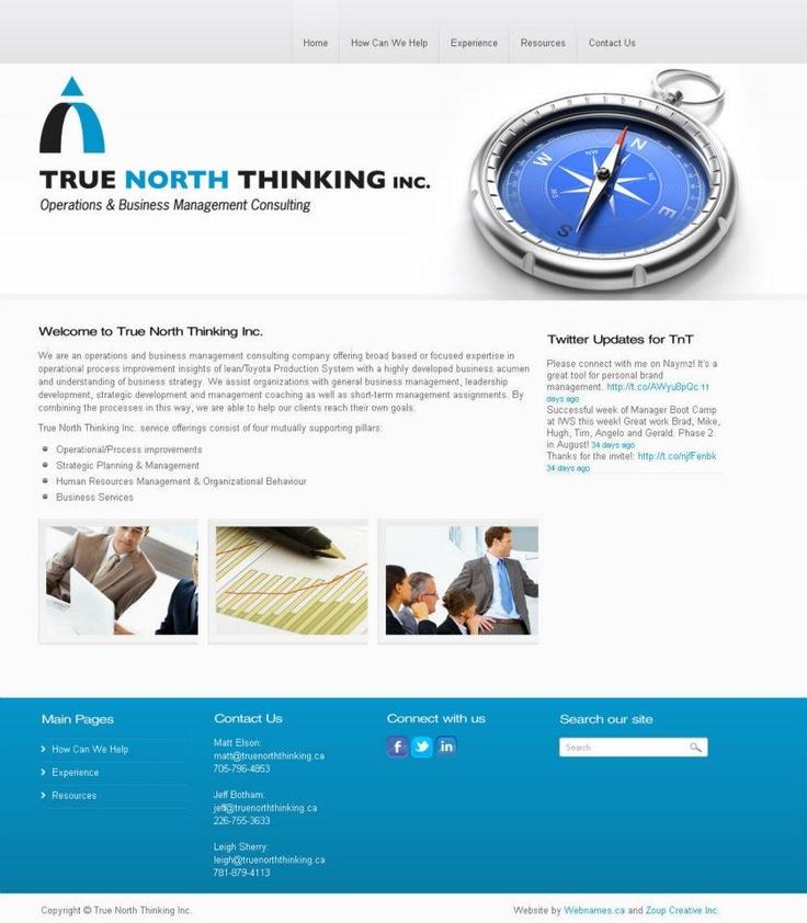 See the full website at www.truenorththinking.ca