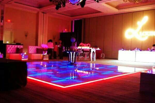 Our unique LED Dance floor will enhance the atmosphere of your event