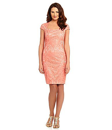 Coral Two Piece Mother of the Bride Dresses