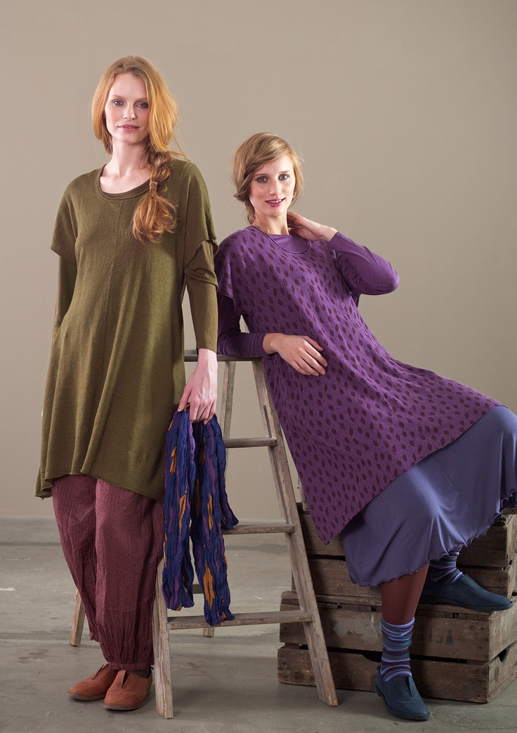 Knitted tunic in solid colour linen – Knits – GUDRUN SJÖDÉN