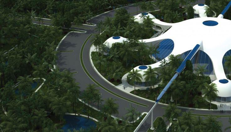 Modelo de design ecológico proposto pela The Venus Project. Veja como alguns arquitetos idealizam as cidades do futuro!  http://www.blogdaarquitetura.com.