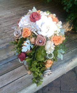 Rustic and Vintage Bridal bouquet http://sakurahsflowerstudio.wordpress.com/2014/10/12/rustic-and-vintage-wedding-flowers/