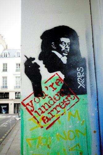 Spray yarps - street art - paris 7 la maison gainsbourg rue de verneuil - aout 2013
