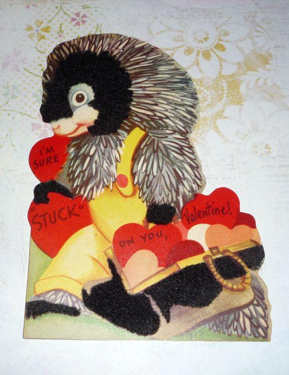 Adorable Porcupine  I'm Sure Stuck on You  Valentine