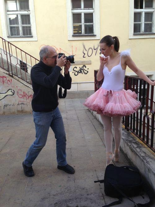 photoshooting by Pascal Beatens - model is wearing Isabella pink DOLLY skirt