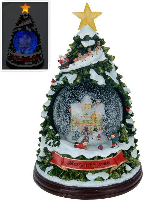 Kerstboom Met Waterbal Muziek En Licht Globes Pinterest Kerst