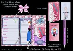 Snowflake Princess A4  Hanging Organiser Planner   Jotter  2 on Craftsuprint - View Now!