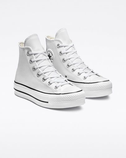 1039fad68a5 Chuck Taylor All Star Lift Clean Leather High Top White/Black/White