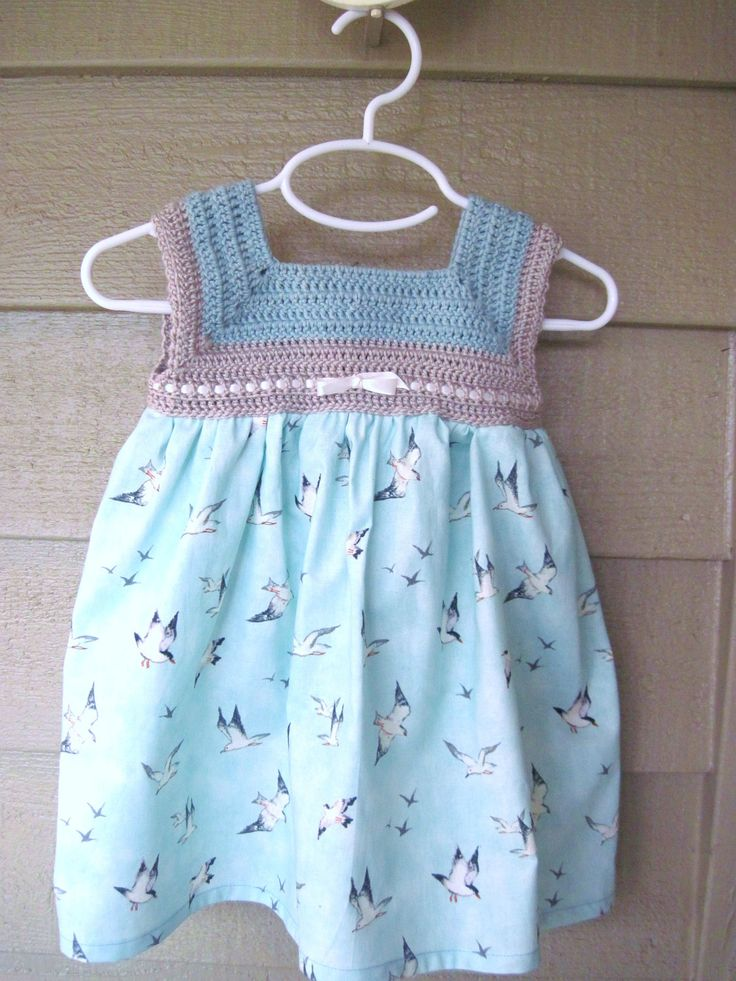 Crochet Baby Dress Spring Baby Dress Summer by thejumpingjunebug, $32.00
