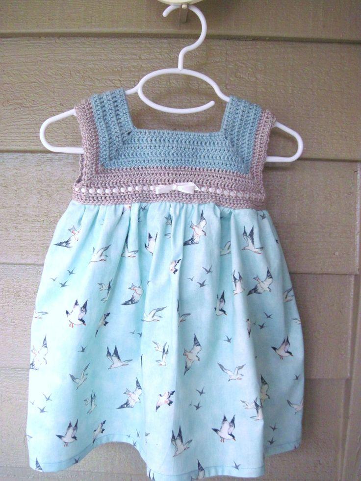 Crochet Baby Dress Spring Baby Dress Summer by thejumpingjunebug, $32.00