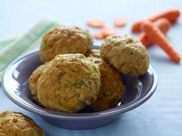 Skinkeboller med porre og gulerod Gode boller, der kan fryses ned, fra Familie Journals Slankeklub