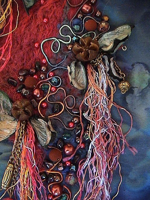 17 best images about fabric artist michel on quilt fabric necklace and