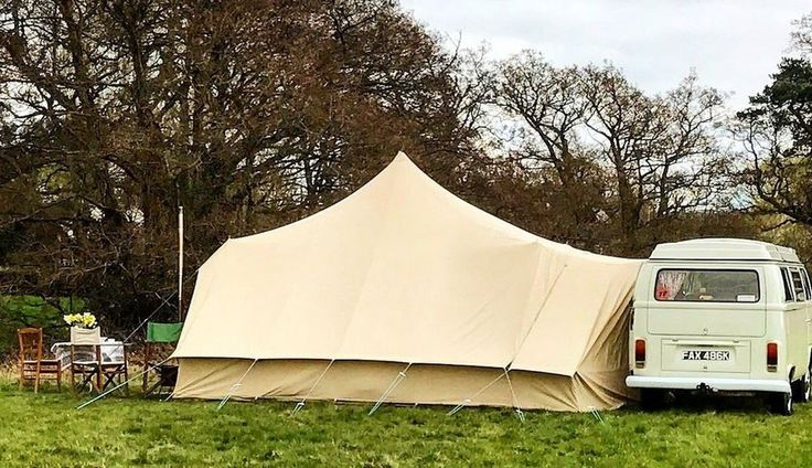 The Dubpod is a canvas bell tent driveway awning designed by Bell Tent Boutique. The hybrid design provides extra living space when connected to a camper van but it can also be used as a standalone tent providing the ultimate in camping flexibility! Read