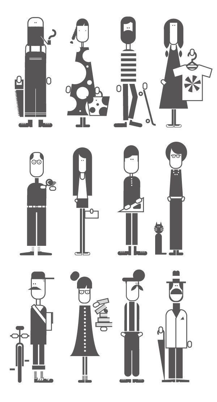 Minimal character design