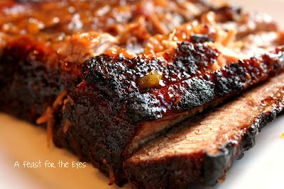 Braised Brisket with Bourbon-Peach Glaze recipe from A Feast for the ...