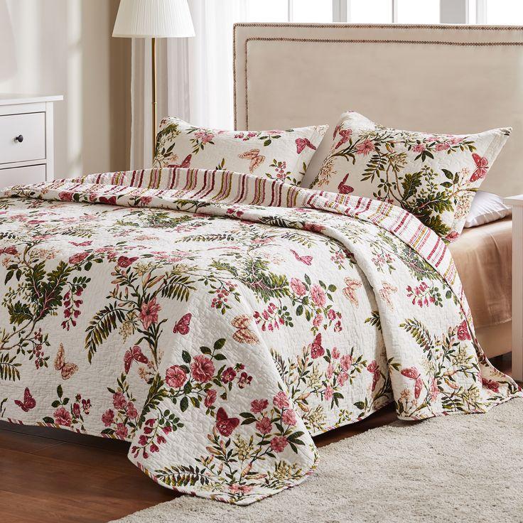 Global trends botanical 100 cotton quilt set walmart