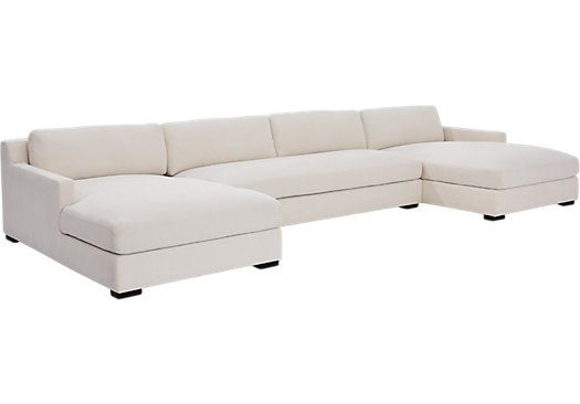 picture of Central Avenue Cream 3 Pc Sectional from Living Room Sets Furniture