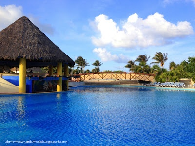 "Swim in the pools at the Gran Bahia Principe in Akumal, Mexico.  Find out more at ""Down the Wrabbit Hole - The Travel Bucket List"". Click the image for the blog post."