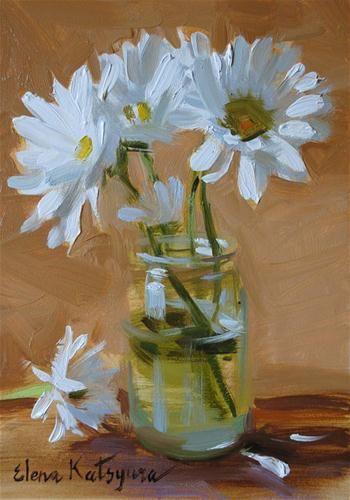 Summer Daisies - Original Fine Art for Sale - © Elena Katsyura