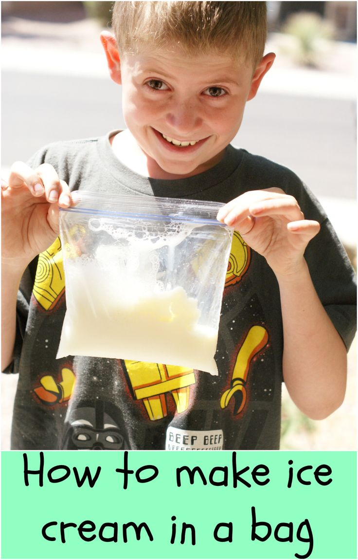 Learn how to make ice cream in a bag, a great kids craft