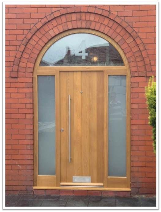 contemporary door vertical boarded